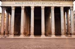 古老万神殿在罗马,意大利 免版税库存图片