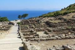 古老上城的废墟 库存图片