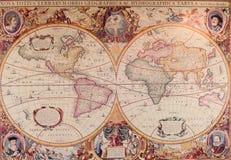 古老世界的地图 库存图片