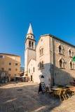 古老东正教由在拜占庭式的样式的石头制成在布德瓦亚得里亚,黑山 库存照片