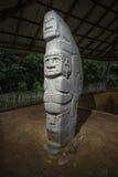 古老严重雕象特写镜头在哥伦比亚 图库摄影