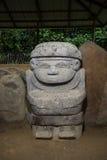 古老严重雕象特写镜头在哥伦比亚 免版税图库摄影