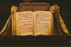 古老中世纪书 免版税库存图片