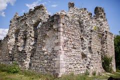 古老中世纪城堡在乌克兰 免版税库存照片