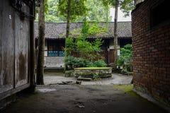 古老中国住宅大厦Verant庭院  免版税图库摄影