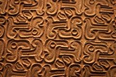古老中国古铜织地不很细背景 免版税库存图片