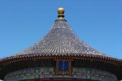 古老中国大厦圆顶  免版税库存图片