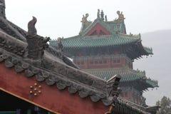 古老中国大厦屋顶 免版税库存图片