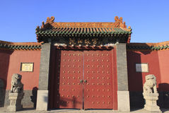 古老中国宫殿建筑学 免版税库存图片