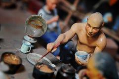 古老中国工作者 免版税库存照片