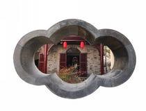 古老中国庭院房子 库存图片