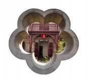 古老中国庭院房子 免版税库存照片