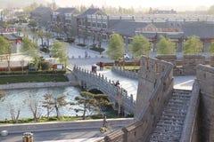 古老中国建筑学城堡样式  库存图片