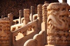 古老中国建筑学/大厦 皇家祖先寺庙,紫禁城 Taimiao,Gugong 免版税库存照片
