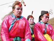 古老中国恐怖姿势 免版税图库摄影