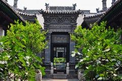古老中国房子庭院 免版税库存图片