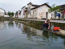古老中国村庄在中国南方,长乐 库存图片