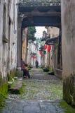 古老中国村庄在中国南方,长乐 图库摄影