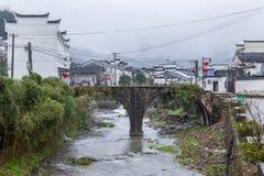 古老中国村庄在中国南方, Sanmenyuan 免版税库存图片