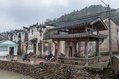 古老中国村庄在中国南方, Sanmenyuan 库存图片