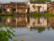 古老中国村庄在中国南方, Zhugecun 库存图片