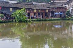 古老中国村庄在中国南方, Zhugecun 免版税图库摄影