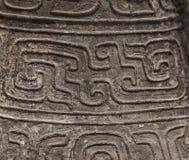 古老中国瓦器纹理,龙。 库存图片