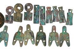 古老中国硬币 免版税图库摄影