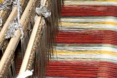 古老中国织布机 免版税图库摄影