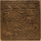 古老中国装饰样式背景 免版税库存照片