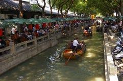 古老中国锂钳子城镇 免版税图库摄影