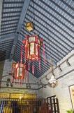 古老中国建筑学内部细节 免版税图库摄影