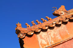 古老中国建筑学屋顶  库存图片