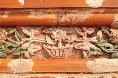 古老中国建筑学雕塑 免版税库存图片