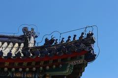 古老中国建筑特点 库存照片