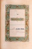 古老书一等奖致力标签 免版税库存图片