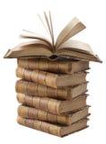 古老书堆 免版税库存照片