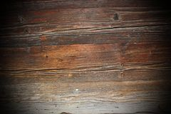 古老云杉的木板 库存照片