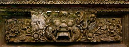 古老亚洲雕刻的石头 库存图片