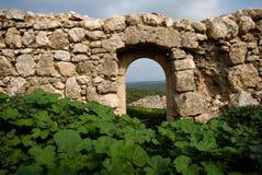 古老以色列废墟 免版税库存照片