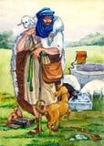 古老以色列牧羊人 图库摄影