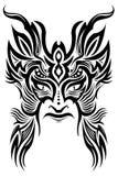 古老仪式屏蔽纹身花刺部族向量 免版税库存照片