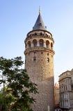 古老伊斯坦布尔塔 免版税库存照片