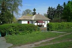 古老传统乌克兰小屋 免版税库存图片