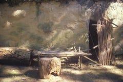 古老住宅, Tasalagi村庄在车落基印第安人的国家, OK 免版税库存图片