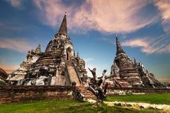 古老佛教塔废墟 ayutthaya泰国 免版税库存照片