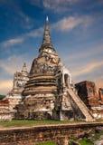 古老佛教塔废墟 ayutthaya泰国 免版税库存图片