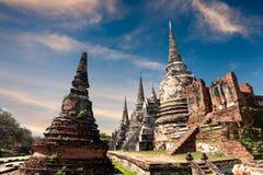 古老佛教塔废墟 ayutthaya泰国 库存照片