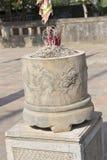 古老佛教塔洞复杂Bich东 免版税图库摄影