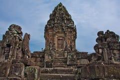 古老佛教高棉寺庙 库存照片